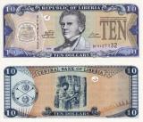LIBERIA 10 dollars 2011 UNC!!!