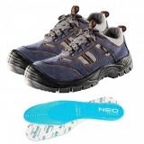 Cumpara ieftin Pantofi de lucru din piele de caprioara, S1P, SRA, talpici/branturi, marimea 43, NEO