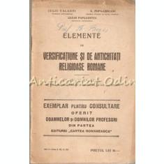 Elemente De Versificatiune Si De Antichitati Religioase Romane -