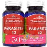 Parasites 12 Detox Forte 60Cps Pachet 1+1-50%
