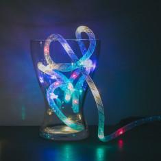 Sir de lumini de Craciun - multicolor / fir argintiu - 2 m, 2 x AA Best CarHome
