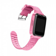 Ceas smartwatch copii GPS OEM YJ658, telefon, touchscreen, camera foto 3MP, monitorizare spion, LBS, buton SOS, roz