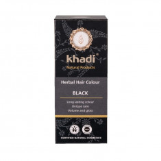 Negru Khadi - vopsea de par naturala