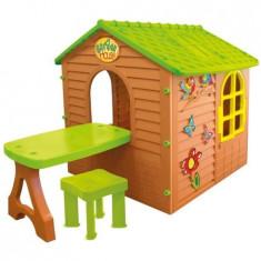 Casuta Mochtoys Garden House cu masuta