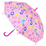 Umbrela automata pentru copii, model cifre colorate, 48,5 cm