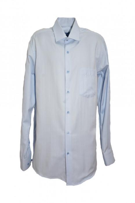 Camasa barbateasca uni cu maneca lunga,nuanta albastra