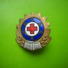 HOPCT ROMANIA INSIGNA CRUCEA ROSIE FGPAS  RPR   [ 7  ]