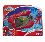 Marvel Super Hero Adventures - Figurina cu vehicul, Spider-Man