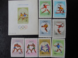 Serie timbre romanesti sport nestampilate Romania MNH