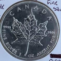 CANADA 5 DOLLARS, DOLARI 2002, KM#187, AG.999, 31.10 gr (1 oz), America de Nord, Argint