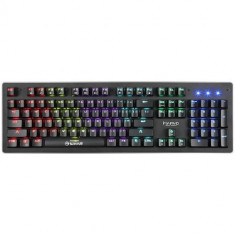 Tastatura Gaming Mecanica Marvo KG909, Blue Outemu, LED Rainbow (Negru)