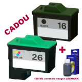 Cumpara ieftin Pachet Cartus negru Lexmark-16 + Cartus color Lexmark-26 ( Lexmark16 10N0016...