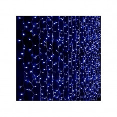 Instalatie de Craciun 3 m / 3 m , Perdea, Albastru, 352 leduri, SDX, 5804B / instalatie luminoasa / ghirlanda luminoasa
