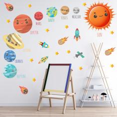 Set 38 Stickere copii - Planete1 60x90cm plansa, STKWAC0004