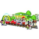 Set trenulet interactiv de jucarie cu telecomanda, multicolor
