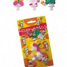 Lumanari aniversare figurine, pentru fetite - 2 modele, Radar 25506, set 3 buc