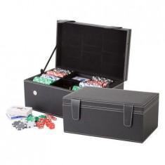 Set cadou poker si cutie sticle vin + accesorii