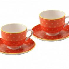 Set 6 cescute + farfurii de cafea Orange by Zafferano