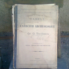 TABELE PENTRU EXERCITII ARHEOLOGICE - GR.G. TOCILESCU FASCICULUL I