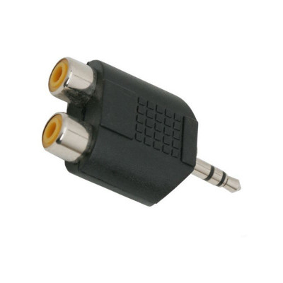 Adaptor audio stereo Jack 3.5 mm, 2 prize RCA foto