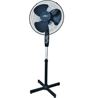 Ventilator cu picior SAPIR SP 1760 B, 40W, 40 cm, 3 treptede viteza, Inaltime reglabila, Grila de protectie, Negru foto