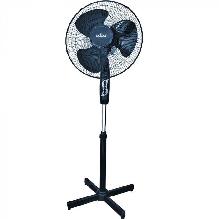 Ventilator cu picior SAPIR SP 1760 B, 40W, 40 cm, 3 treptede viteza, Inaltime reglabila, Grila de protectie, Negru