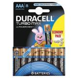 Set 8 baterii Duracell Turbo Max, tip AAA
