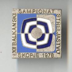Insigna TIR - Competitie sportiva Concurs International BALCANIADA - SCOPJE 1978
