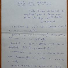 Manuscris olograf Geo Bogza , Toata apa marii , 5 pagini , 1980