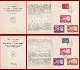 1962 Exil Romania, 2 Carnete filatelice comemorare legionari Mota si Marin (dt.)