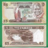 = ZAMBIA - 5 KWACHA - 1980-88 - UNC     =