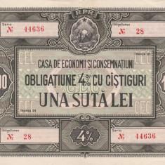 OBLIGATIUNE CEC R.P.R.UNA SUTA LEI