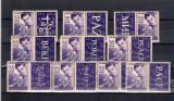ROMANIA 1956 -  ZIUA INTERNATIONALA A COPILULUI - SERIE CU VINIETE - LP 406b