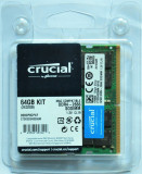 """64GB Kit memorie SODIMM DDR4-2666 Crucial CT2K32G4S266M """"Mac Compatible"""", 64 GB"""