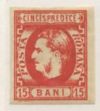 1869-15 BANI CAROL CU FAVORITI,H.GALBUIE,VERMILLON(5R).T3., Nestampilat