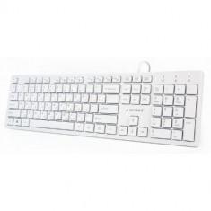 Tastatura Gembird Chocolate, USB, Layout RO (Alb)