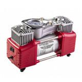 Compresor Raider, 12 V x 300 W, 70 l/min, 9.6 bar, 2 cilindri, 3 adaptoare incluse