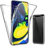 Husa CRYSTAL protectie 360° fata + spate pt Samsung Galaxy A80