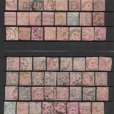 Lot timbre Germania, districtul de nord (cu mici defecte), Stampilat