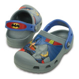 Saboți Copii casual Crocs CC Batman Clog, 23, 25, 28, 30, Gri