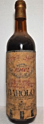 Z 22 - VIN BAROLO RISERVA SPECIALE  VILLADORIA DOC, rec.1962 cl 72 gr 13,5 foto