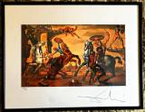 Salvador Dali - cromolithografie, Scene gen, Acrilic, Suprarealism