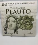 """ITALIA 2016 1 Cent-2 Euro + 2 Euro Comemorativ - """"Tito Maccio Plauto"""" Folder, Europa"""