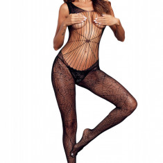 BS346-1 Bodystocking cu model panza de paianjen