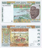 1996, 500 francs (P-710 Kf) - Senegal (Statele Africane de Vest) - stare XF!