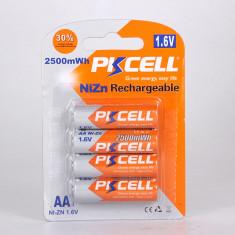 Acumulator R6, AA, 2500ma, 1,6V, Ni-Zn, PKCELL - 201373