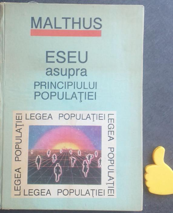 Eseu asupra principiului populatiei Thomas Robert Malthus
