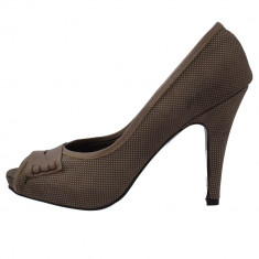 Pantofi dama, din piele naturala, marca Le Scarpe, 5000-2, maro 37