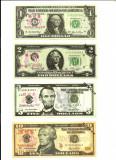 USA/SUA - Set 7 Bancnote Fantasy