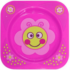Farfurie Adanca Decorata Baby Care Pink Flower